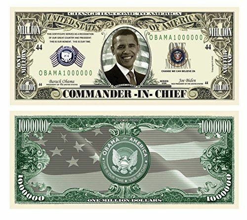 Barack Obama Million Dollar Bill Set of 50