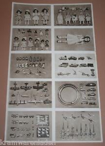 altes Katalogblatt mit Spielzeug eines thüringer Hausgewerbetre<wbr/>ibenden