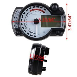 Details about Universal 15000 RPM 299 KMH MPH Odometer Speedometer  Tachometer Motorcycle