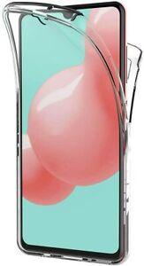 Pour Samsung Galaxy A41 Coque Gel 360 avant + Arrière Protection INTÉGRAL