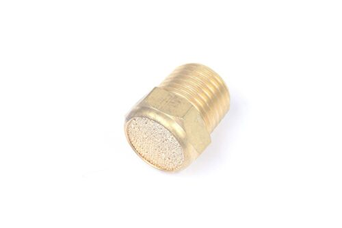 "5pcs Sintered Bronze Flat Pneumatic Muffler Filter 1//2/"" Male NPT Silencer"