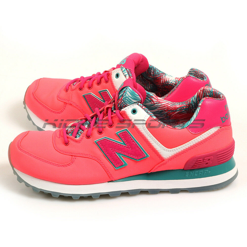 New Balance WL574IGP B Laser Pink & Green & White Classic Lifestyle shoes NB