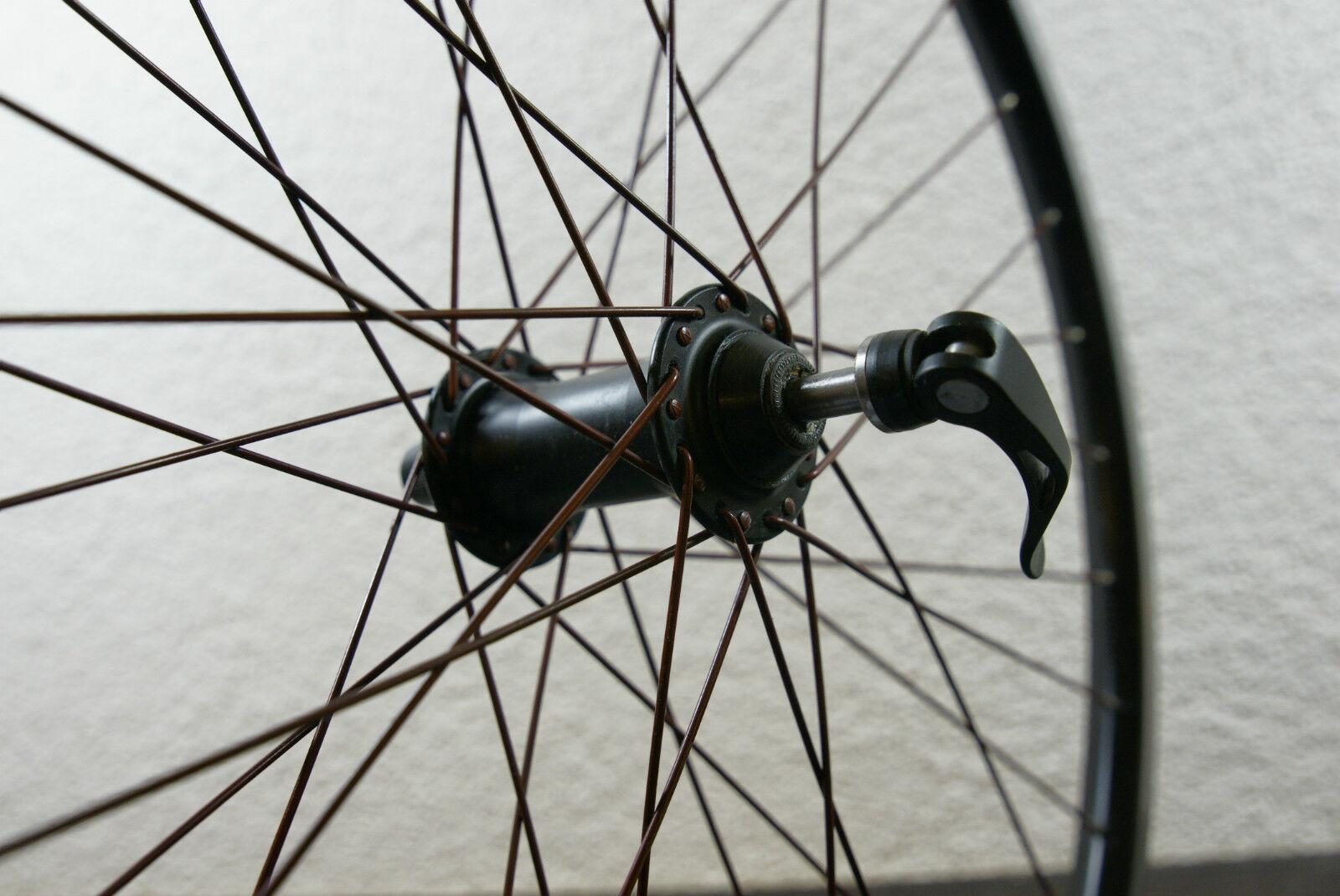 Point Racing Vorderrad mit Rot-braunen Rot-braunen Rot-braunen Speichen für Felgenbremsen Kult Retro 97b319