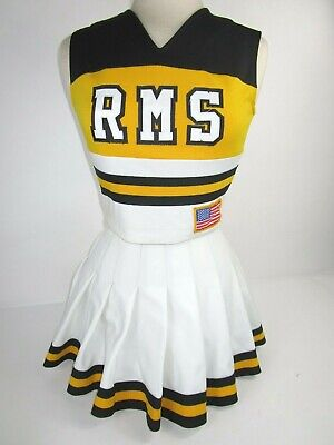 """EAGLES Cheerleader Uniform Outfit Costumes Sizes 32-36/"""" Top 25-30/"""" Skirt Choose"""