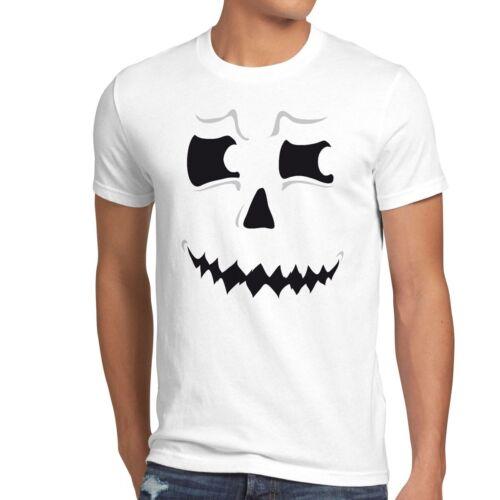 Grusel Esprit Halloween T-Shirt Hommes Mardi Gras Costume Citrouille-tête Fête Fun Spectre