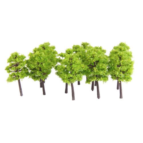 250 40Pcas hellgrüne Modellbäume für DIY Eisenbahn LandschaftZubehör 1