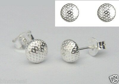 925 Sterling Silver Small 5mm Half Bead Ball Dome Studs Earrings X/'Mas GIFT BOX