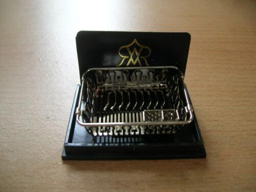 Reutter porzellan geschirrkorb//silver sink drying rack poupée 1:12