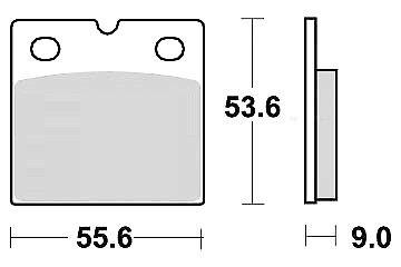 Jeu 2 plaquette de frein Avant//Arrière MBWK 100 RS//RT ABS 100//D100 1983-90
