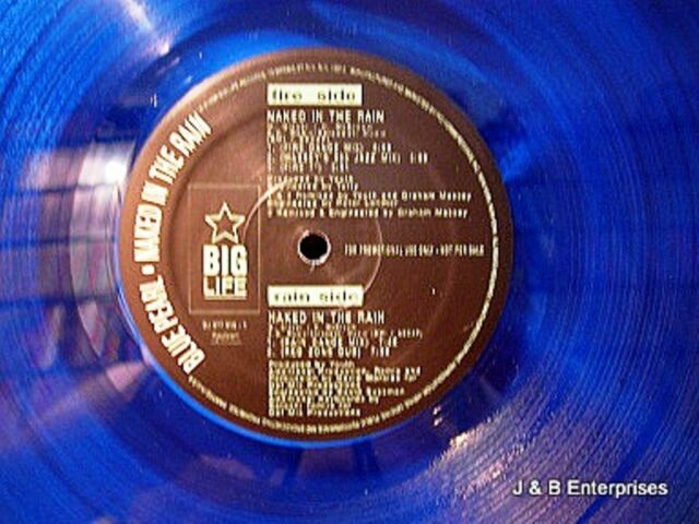 "Blue Pearl - Naked in the Rain -  ""BLUE VINYL""  *DJ PROMO* Collectors Edition"