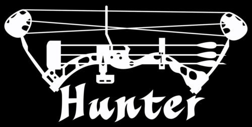 Bow Hunter Decal,deer hunting sticker,archery,compound bow,deer hunter
