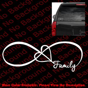 Love Forever Heart Infinity Car Window Vinyl Decal Sticker