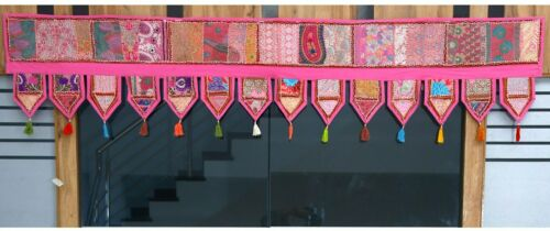 Vintage Embroidery Wall Hanging Patchwork Toran Window Decor Valances Home Decor