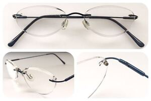 A18-Superb-Quality-Rimless-Reading-Glasses-Spring-Hinges-Stainless-Steel-Arms