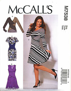 8ffc00543f7e MCCALL S SEWING PATTERN 7538 MISSES 6-14 CROSS-OVER MIDRIFF BAND ...