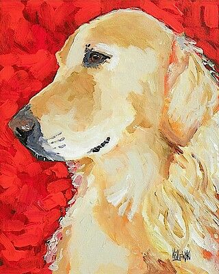 Poster Golden Retriever GiftsArt Print from Painting Home Decor 11x14
