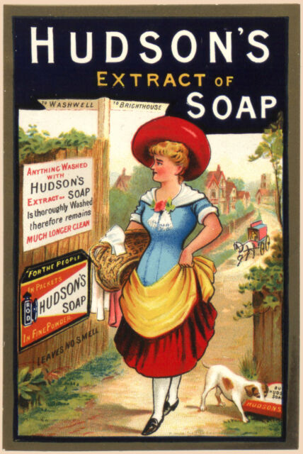 02 Vintage  Advertising poster  A4 Photo RE PRINT  Goodwins Toilet Soap