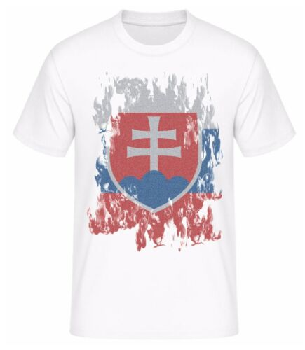 T-Shirt Slowakei Fahne Flagge 2016 EM Trikot Shirt für Fans mit Tickets Euro