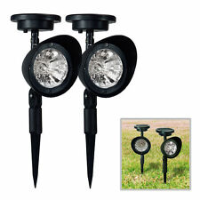 Set of 2 Solar Garden Lamp 3 LED Spot Light Outdoor Lawn Landscape