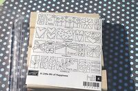 Little Bit Of Happiness Stampin Up Hearts Flowers Butterflies Borders Set Of 4