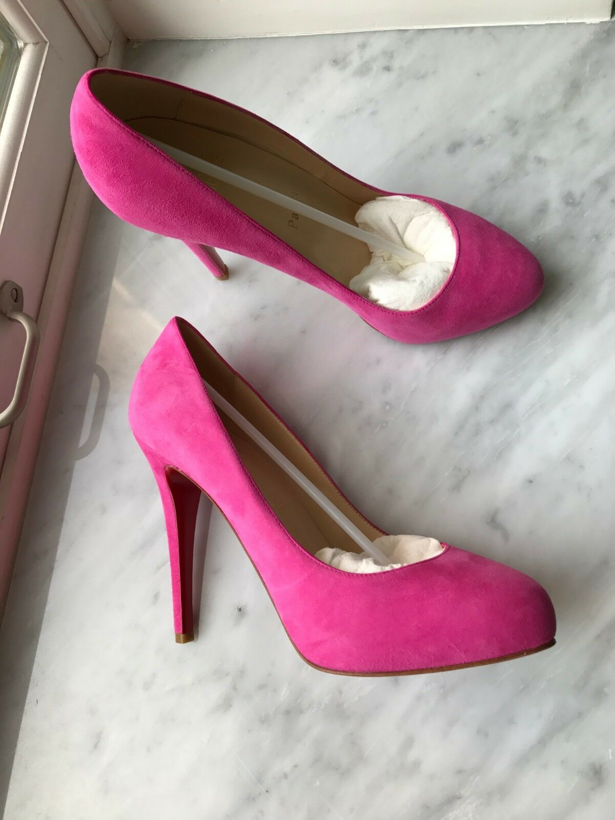 Christian Christian Christian Louboutin BRAND NEW hot pink suede shoes 38 0e8d9f