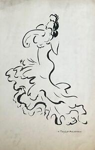Lucienne-Pageot-Rousseaux-Drawing-Original-Ink-Maria-Aranda