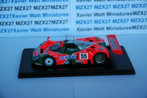 Car 24 hours le mans winner 1991 1//43 mazda 787b #55 herbert Gachot weidler