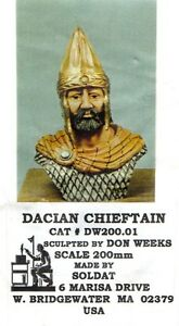 SOLDAT DW200.01 - DACIAN CHIEFTAIN BUST 200mm RESIN KIT