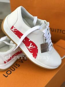 912eb459d497 AUTHENTIC SUPREME X LOUIS VUITTON SNEAKERS UK 6.5 LV MONOGRAM RED ...
