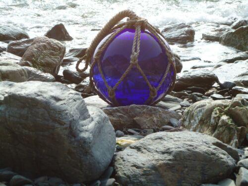 30 CM Jumbo Size Blue Thick Glass Fishing Boat Net Float Buoys //Bathroom Garden