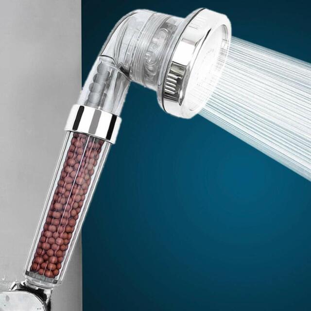 3 Filter Function Handheld Mineral Beads Shower Head High Pressure Filter Hose