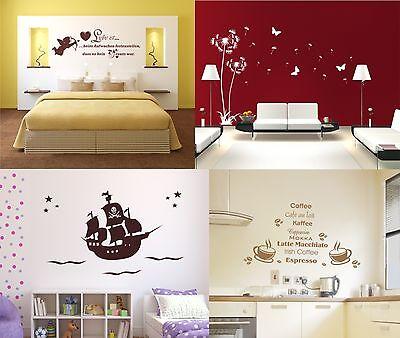 ★* Wandtattoo Pusteblume Schlafzimmer Liebe Wohnzimmer Kinderzimmer Pirat Küche