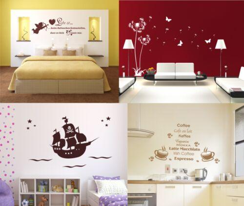 Wandtattoo Pusteblume Schlafzimmer Liebe Wohnzimmer Kinderzimmer Pirat Küche
