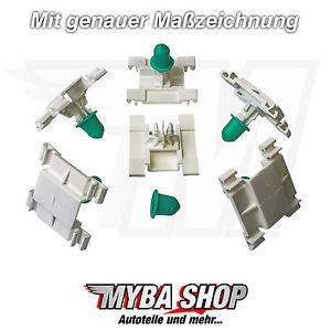 5X-CLIP-GANCI-barre-ornamentali-fissaggio-con-beccuccio-per-VW-GOLF-III-3