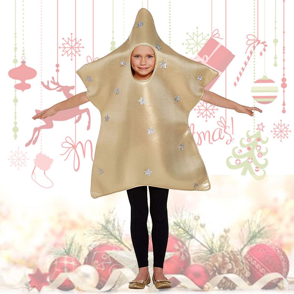 Children's Fancy Dress Christmas Gold Star Nativity Play Medium 7 -9 yrs Costume