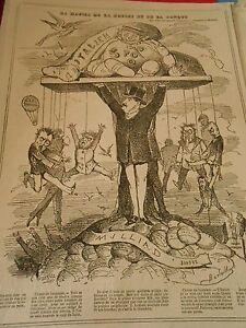 1868 Pèle Mèle De Dessins La Hausse De La Bourse Et De La Banque MatéRiaux De Choix