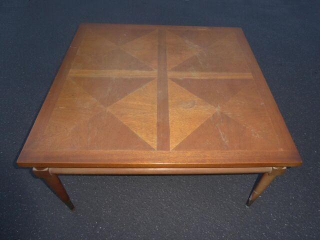 Vintage Mid Century Modern Solid Wood Peg Leg COFFEE TABLE