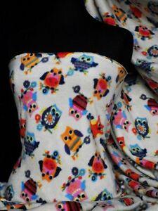 Polar-fleece-anti-pill-fabric-owl-Q1114-OWL
