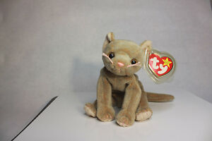 6bd060e5c3c Ty Beanie Baby Scat the Cat Ultra Super Rare Retired Misspellings ...