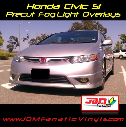 06-08 Civic SI Fog Light Yellow Overlays TINT K20 FG2 Mugen Precut Vinyl JDM