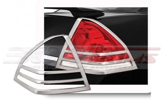 FITS CHEVY IMPALA 2006 - 2013 ABS CHROME TAIL LIGHT TRIM BEZELS 2PCS