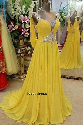 Hot New Evening Dress Formal Prom Quinceanera Party Ball Gowns Custom Color/Size