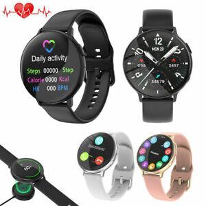 Damen Herren Smartwatch Fitness Tracker Kalorien Sport Armband für Android iOS