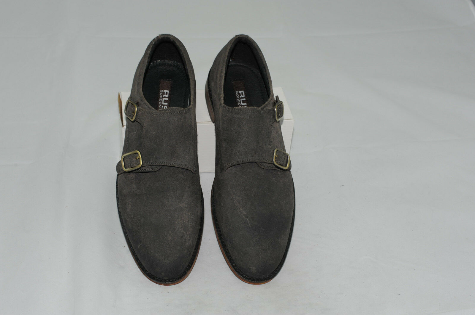 NWT Gordon Rush Men's Double Monk Strap Leather Dress shoes Size 7 M