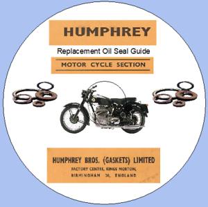 GUARNIZIONE Olio per sostituzione di HUMPHRY guida motocicli 1946-1959