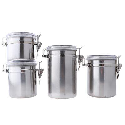 Stainless Steel Canister Coffee Airtight Kitchen Sugar Food Storage Jars  Set   eBay