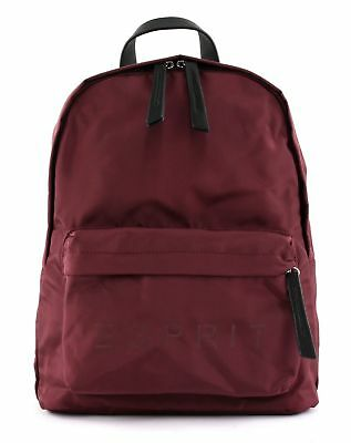 Esprit F_cleo Backpack Rucksack Tasche Bordeaux Red Rot Neu