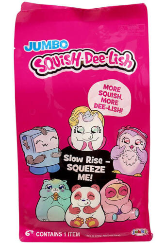 Free Shipping Squish-Dee-Lish Jumbo Series 1 Mystery Pack Pick Your Character