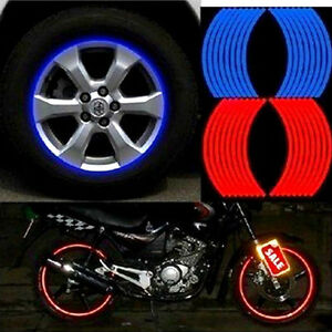 18-Strips-Motorcycle-Car-Wheel-Tire-Stickers-Reflective-Rim-Tape-Hoc