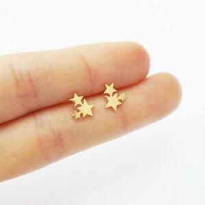 Women-Golden-Stainless-Steel-Cute-Stud-Earrings-Carnations-for-Girls-Animal-Hear